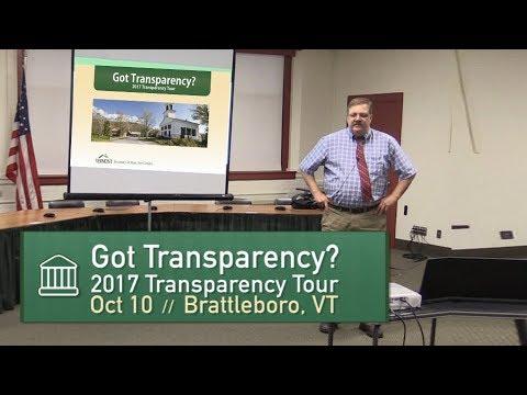 Got Transparency? Jim Condos, VT Sec of State 10/12/17