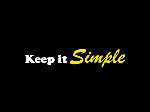 Keep It Simple 11-7-2015