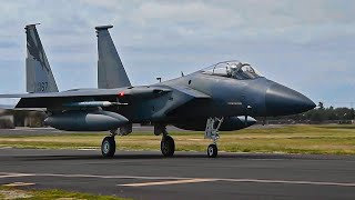 U.S. Air Force F-15C Eagle Fighter Aircraft Participate in Exercise Sentry Aloha 20-1