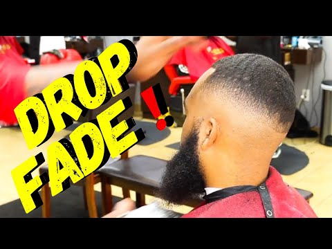DROP FADE WITH WAVES ON TOP. BARBER TUTORIAL. DROP FADE WITH WAVES AND BEARD