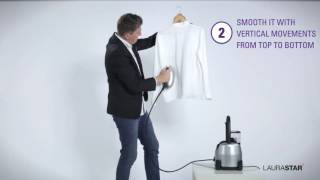 Laurastar - How to dewrinkle - Your silk blouse