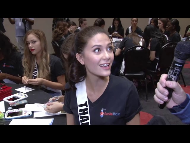 Nov21st Smile Train Project [Maria Poonlertlarp Miss Universe Thailand 2017]
