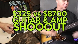 $325 vs $8700 Guitar & Amp TONE SHOOTOUT (Tel-e style)