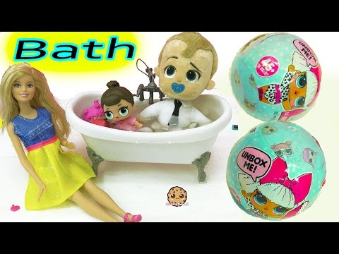 Barbie Babysits The Boss Baby & Surprise LOL Babies Surprise Blind Bag Toy