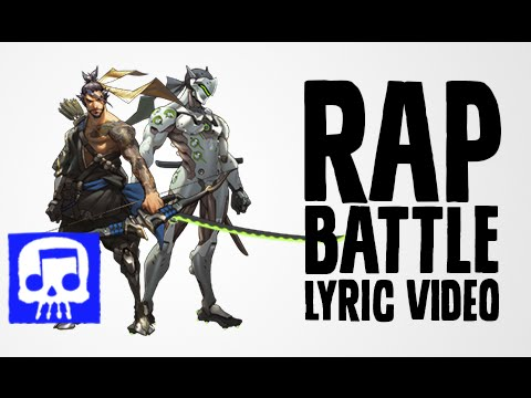 Hanzo Vs Genji Rap Battle LYRIC VIDEO by JT Music (Overwatch Song)