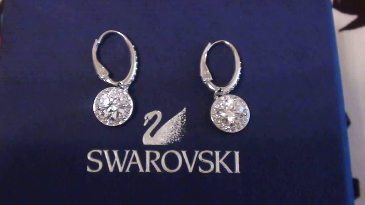 a5c5e86a1b0a56 Swarovski Silver-Tone Crystal Stone Drop Earrings - YouTube