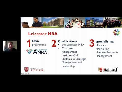 University of Leicester MBA - Middle East Webinar - November 1, 2017