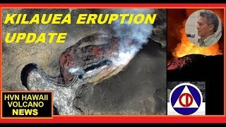HAWAII ERUPTION Latest Update on Kilauea HCCD (8/10/2018)
