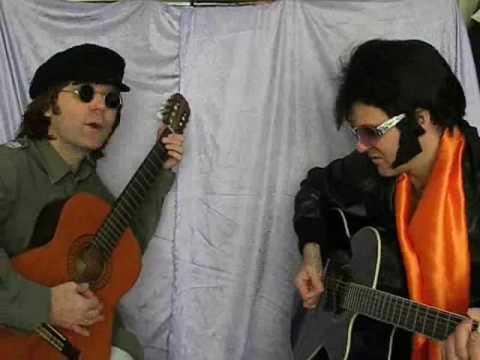 "ELVIS PRESLEY AND JOHN LENNON ""WAY DOWN"" - YouTube"
