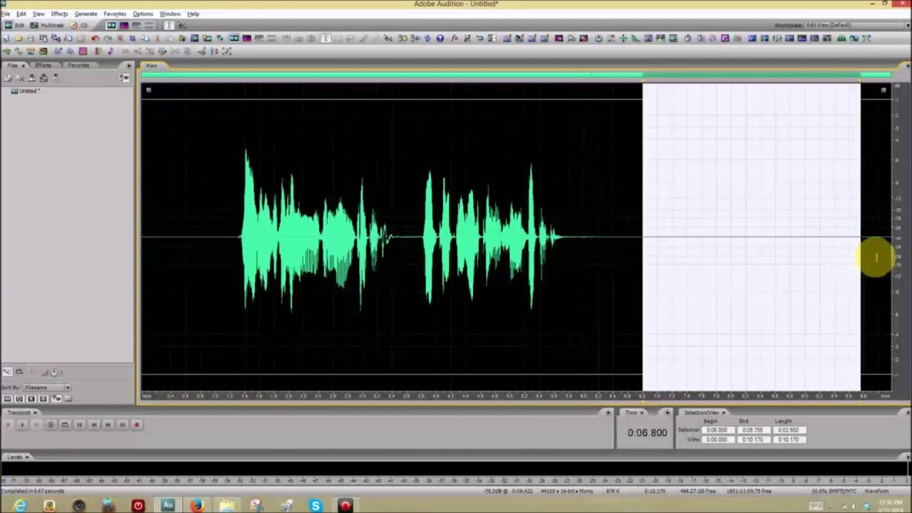 Adobe audition noise reduction not working