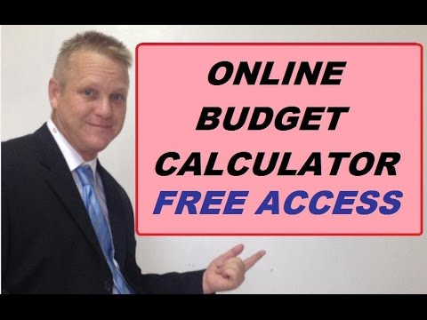 online budget calculator form your budget here youtube