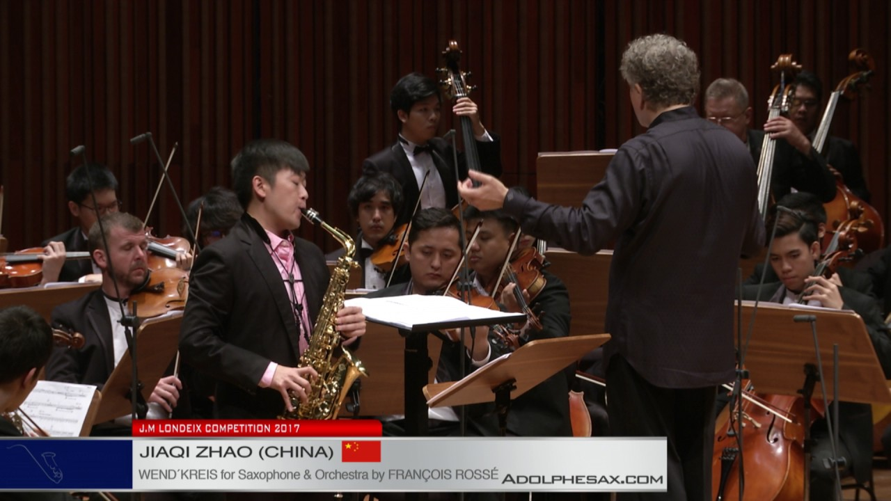 Londeix 2017   Final   Jiaqi Zhao China   Wend'kreis for Saxophone and Orchestra by Francois Rosse