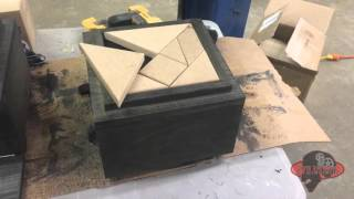Escape room tangram hidden compartment box