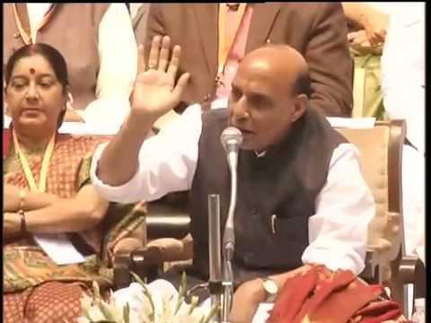 Shri Rajnath Singh praises Shri Modi at BJP National Council Meet