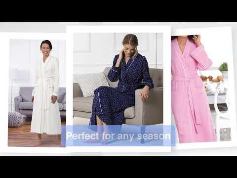 Soft Robe Womens PajamaGram Long Womens Cotton Robes