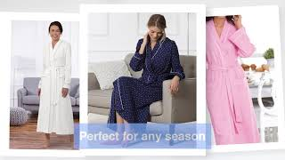 PajamaGram Soft Long Robes Women Love - Womens Cotton Sleepwear