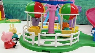 Peppa Pig e i suoi Amici Vanno Al Parco Giochi Sulle Giostre Nella Sabbia Magica , Video Per Bambini
