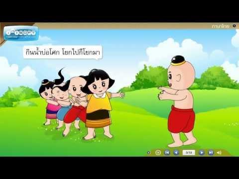 บทเรียนช่วยสอนวิชาภาษาไทย ป.4 - การเล่นงูกินหาง