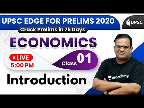 UPSC EDGE for Prelims 2020 | Economics by Ashirwad Sir | Introduction