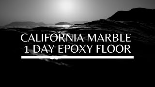 Epoxy Garage Floor - 1 day Process by California Marble, #californiamarble,