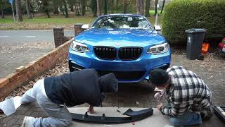 Fitting M Performance Carbon Spoiler and Splitter - BMW M235i/M240i