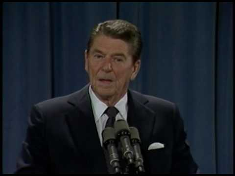 President Reagan's 20th Press Conference in the East Room on October 19, 1983