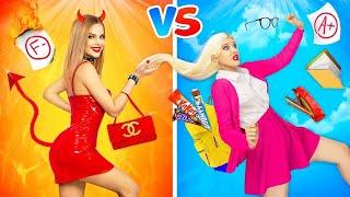 GOOD Girl vs BAD Girl    Cool Girls Struggles in School, Movie and Cafe! Funny Pranks by RATATA