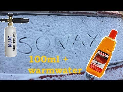 Sonax gloss shampoo concentrate  MJJC foam lance sonax turuncu şampuan