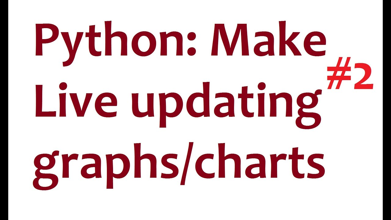 Python Matplotlib Live Updating Graphs - part 2