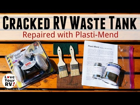Repairing Cracked RV Waste Tanks with Plasti-Mend