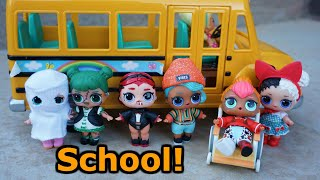 LOL SURPRISE DOLLS Go To Halloween School Assembly