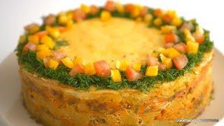 """Праздничное горячее блюдо """"Рыбный торт"""" Красивое, вкусное, низкокалорийное"""
