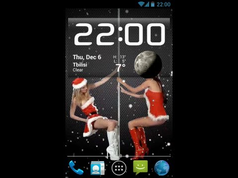 Dancing Christmas Girls Live Wallpaper.