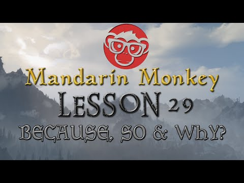 Lesson 29 - Yinwei, Suoyi And Weishenme - Because, So & Why