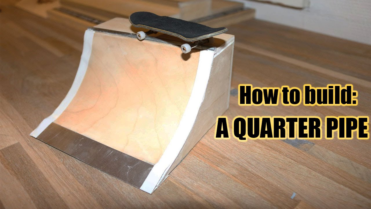how to make wooden fingerboard ramps