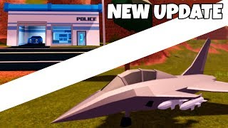 MISSILES ON JETS! NEW POLICE STATION - Roblox Jailbreak