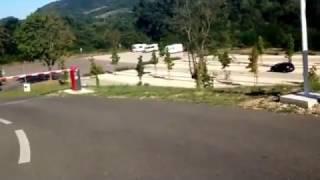 [ AIRE CAMPING CAR ]  🅿️ SAINT JEAN DE MUZOLS AIRE TRAIN DE L ARDECHE GRATUITE