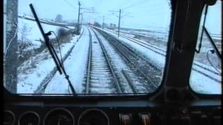 87014 Penrith - Oxenholme via Shap. Winter Cab Ride. Drivers Eye View