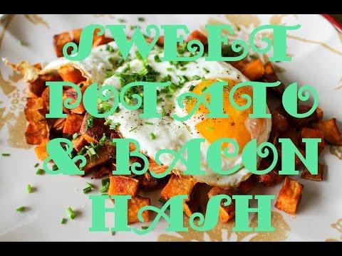 Coley Cooks Breakfast: Sweet Potato + Bacon Hash