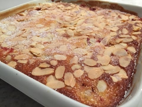 Rhubarb Strawberry & Lemon Pudding
