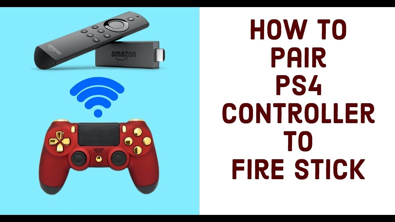 How to Pair PS4 CONTROLLER with AMAZON FIRESTICK to PLAY GAMES - 2018