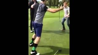 Best golf celebration ever! II Golf Gods