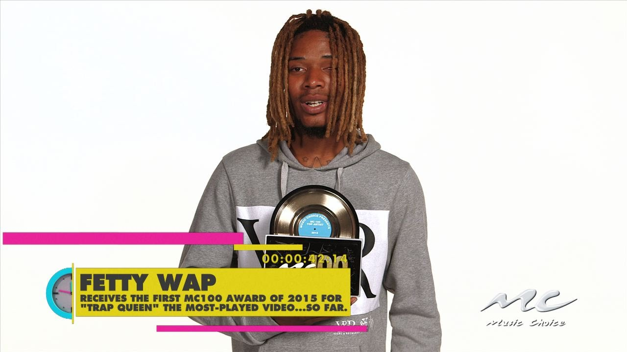 Fetty Wap Receives His First Award Ever from Music Choice!