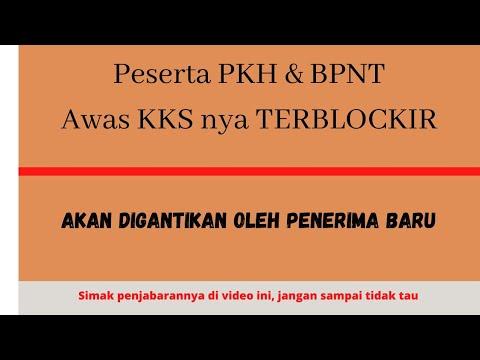 PESERTA PKH dan BPNT AWAS KKS terblokir  dan Akan digantikan PESERTA  TERBARU!!!!