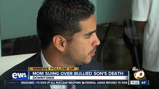 Mother files lawsuit over bullied son's death