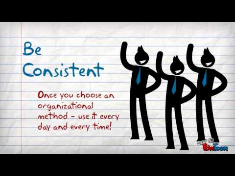 Organizational Skills - YouTube