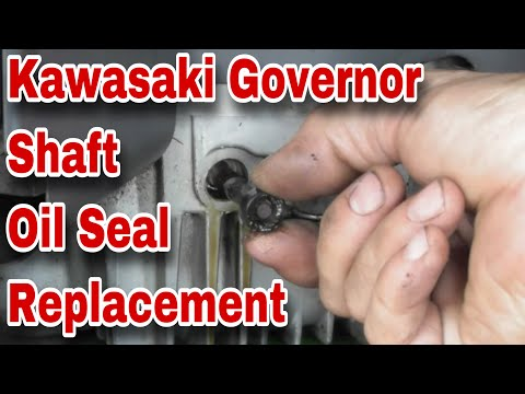 How To Replace The Governor Shaft Seal On A Kawasaki Engine (Oil