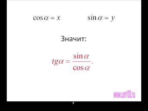 Урок 8.Основные тригонометрические формулы.avi