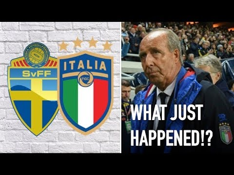 Sweden v Italy finishes 1-0 || 'What just happened' LIVE from Stockholm!