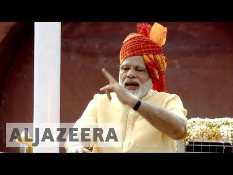 India's Modi calls for peace in Kashmir during independence ceremony